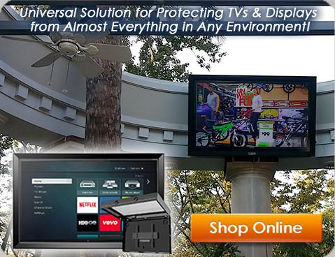 The Display Shield Outdoor Digital Signage Display Enclosures Custom Exterior Digital Signage Model Decoration