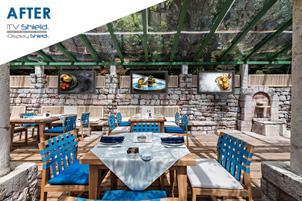 Outdoor Digital Menu Boards for Restaurant Patio