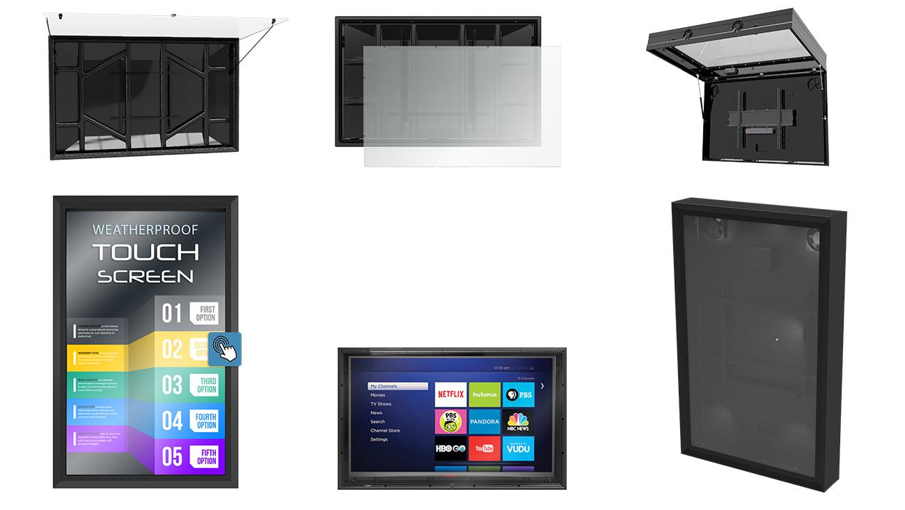 outdoor store signs solution - The TV Shield Series Display Enclosures