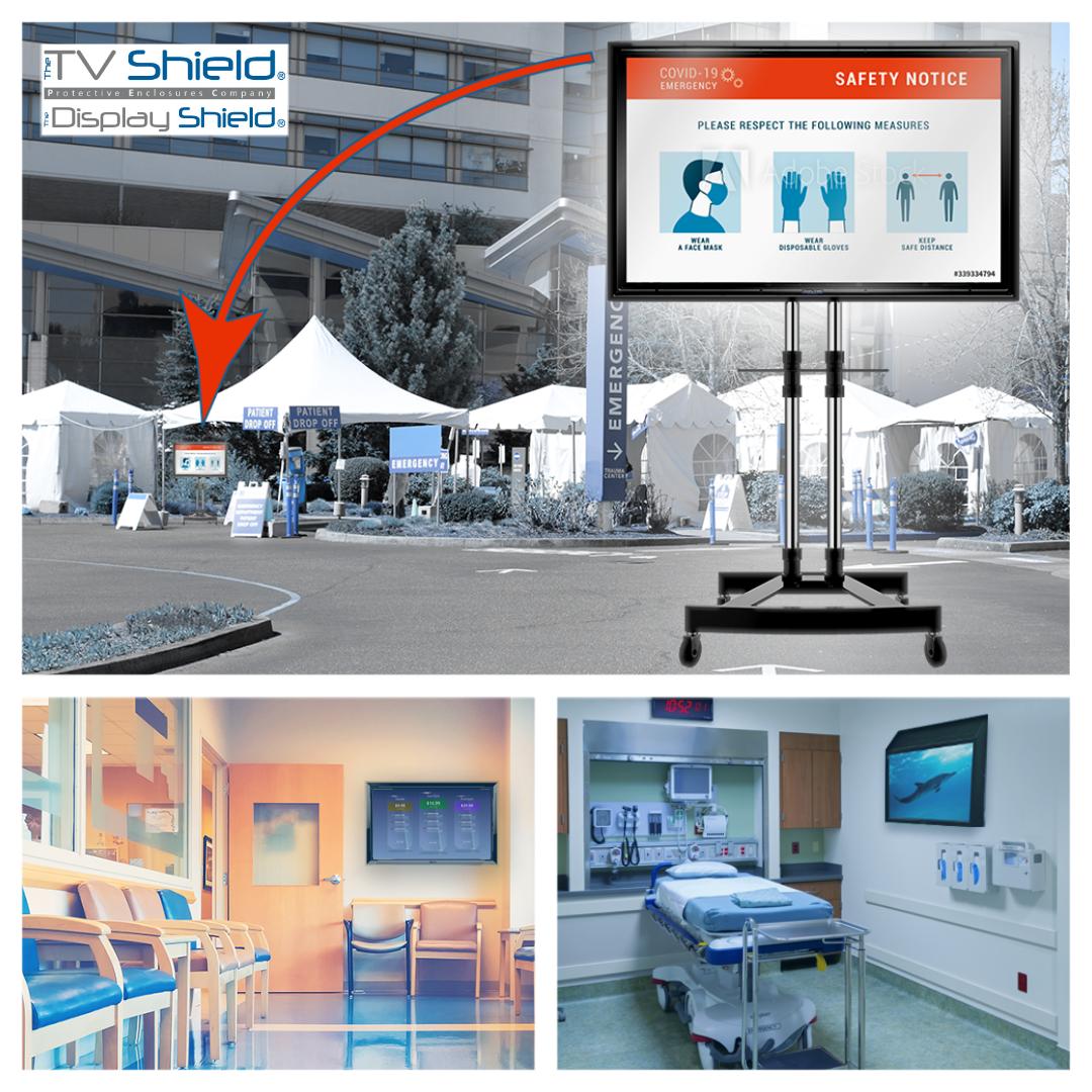 Healthcare Digital Signage & Healthcare TV Protection & Sanitation (Indoor & Outdoor)